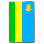 kindle fire case flag of Rwanda Hard Cover Case for Kindle Fire