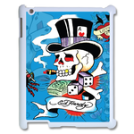 iPad 2 case ed hardy gambling skull Case for IPad 2