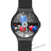 Paul Kalkbrenner horloge Custom Black Plastic High Quality Watch(Round)
