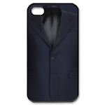 Black Suit Design Custom iPhone 4,4S Case Custom Case for iPhone 4,4S