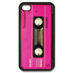 Pink on Black Tape Custom iPhone 4,4S Case Custom Case for iPhone 4,4S  