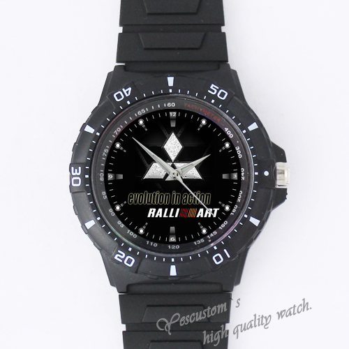 Rally Art Evolution Custom Black plastic high quality watch