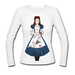 Women's White Long Sleeve Shirt Anger maid Women's Long Sleeve Shirt