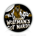 "Round Stickers wolfman 3"" In Diameter Round Sticker"