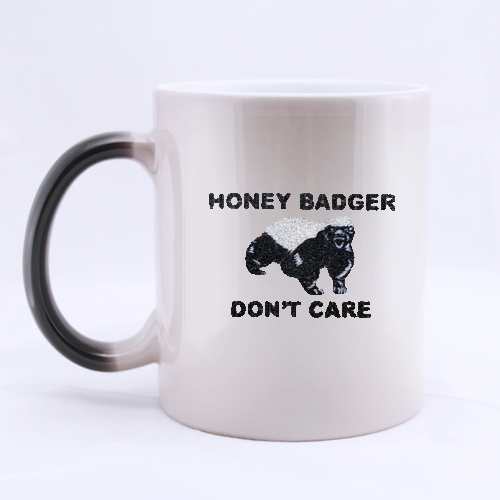 Morphing black honey badger Mug Custom Morphing Mug