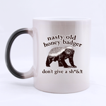Morphing old Honey Badger Mug Custom Morphing Mug