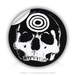 "Round Stickers skull head 1.5"" In Diameter Round Sticker"