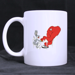 Bugs Bunny and Gossamer Mug Custom White Mug