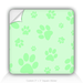 "Square Stickers Blue Paw 3"" Square Sticker"