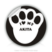 "Round Stickers cat paw 3"" In Diameter Round Sticker"