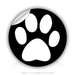 "Round Stickers paw 3"" In Diameter Round Sticker"