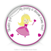 "Round Stickers thank you for attending my party 3"" In Diameter Round Sticker"