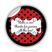 "Round Stickers Thank you for join the fun 3"" In Diameter Round Sticker"