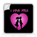 Square Stickers I Love You 1.5&quot; Square Sticker
