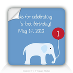 Square Stickers Thank You To Join His 1st Birthday 3&quot; Square Sticker