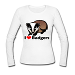 Gildan long sleeve shirt  love honey badger Custom Gildan Long Sleeve Shirts Ladies Model T07