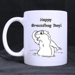 Happy Groundhog Day Classic Mug Custom White Mug