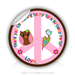"Round Stickers 10th Birthday Party 3"" In Diameter Round Sticker"
