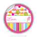 "Round Stickers Thank you for making my party sweet 3"" In Diameter Round Sticker"