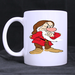 The Thinking Seven Dwarfs Grumpy classic mug Custom White Mug