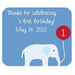 Square Mousepads 1st Birthday Thanks  Rectangular Mousepad