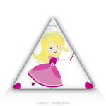 Triangle Stickers Little Princess 3&quot; Triangle Sticker