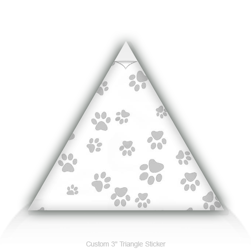 "Triangle Stickers Paw 3"" Triangle Sticker"