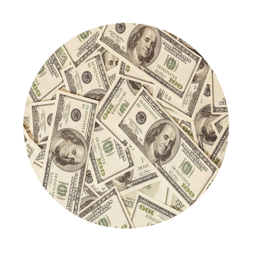 All About The Benjamins Round Rubber Coaster Custom Round Coasters