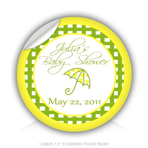 Sticker design studio create your own custom stickers - Round Stickers Baby Shower Umbrella 1 5 Quot In Diameter