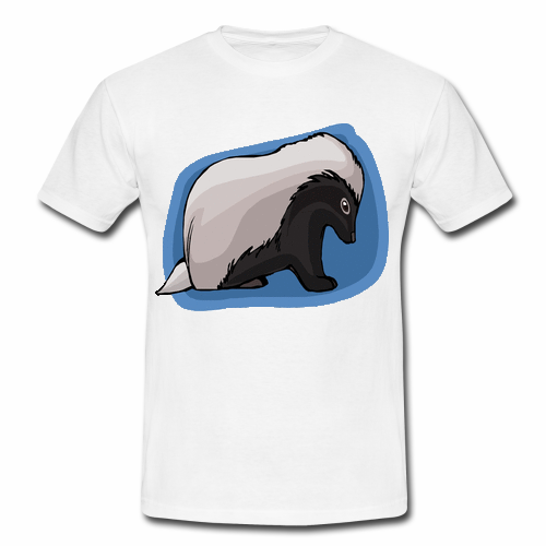 Gildan Men T Shirt Blue Cute Honey Badger Design Men 39 S