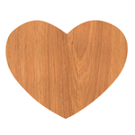 Oak Wood Heart-shape Rubber Coaster Custom Heart Coasters