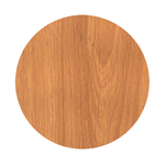 Oak Wood Round Rubber Coaster Custom Round Coasters