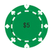 Poker chip Round Rubber Coaster Custom Round Coasters