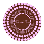 Round Mousepads Thank You Design Round Mousepad