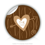 "Round Stickers Wedding Gift 3"" In Diameter Round Sticker"