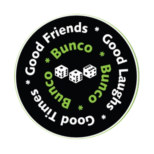 Bunco Good Friends Round Rubber Coaster Custom Round Coasters