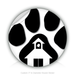 "Round Stickers A House In Paw 3"" In Diameter Round Sticker"