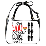 Shoulder Handbag love Shoulder Handbag (two sides)