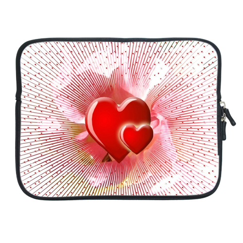 Ipad 2 Sleeve Valentine hearts Two Sides Sleeve for Ipad 2