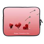 Ipad 2 Sleeve Valentine hearts & Cupid's Arrow Two Sides Sleeve for Ipad 2(Two Sides)