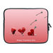 Ipad 2 Sleeve Valentine hearts & Cupid's Arrow Two Sides Sleeve for Ipad 2
