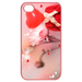 Iphone 4,4s Cases Valentine heart & rain drop Cases for  Iphone 4,4s(Pink)