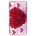 Iphone 4,4s Cases Valentine Heart-shaped roses Cases for  Iphone 4,4s(Pink)