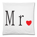 "Mr&Mrs Pillow Case Custom Pillow Case 18""x18""(two side)"