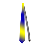 Necktie shining yellow & blue Custom Necktie
