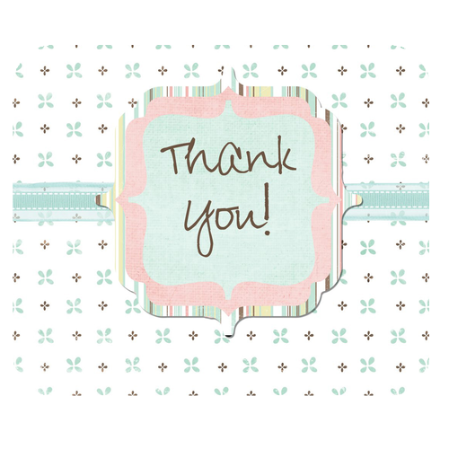 Square Mousepads Floral Thank You  Rectangular Mousepad