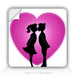 Square Stickers Kissing With Heart And Soul 3&quot; Square Sticker