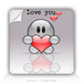Square Stickers Love You 3&quot; Square Sticker
