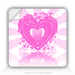 "Square Stickers Loving Heart 3"" Square Sticker"