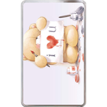 Kindle Fire Cases Valentine bear's love Hard Cover Case for Kindle Fire